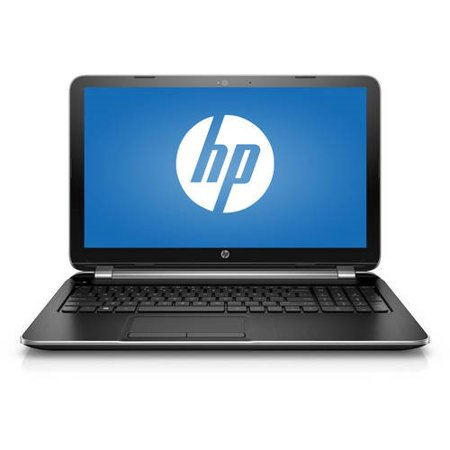 HP Turbo Silver 15-f271wm Laptop PC with Intel Pentium N3540 Processor, 4GB Memory, 500GB Hard drive, and Windows 10 Home