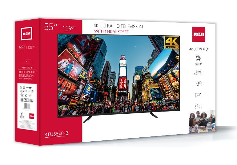 """RCA 55"""" Class 4K (2160P) LED TV (RTU5540)"""