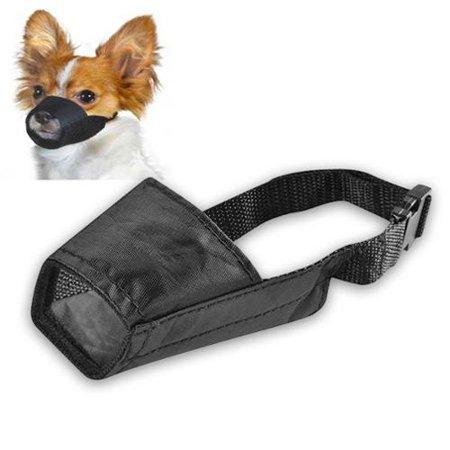"Insten Dog Muzzle Guardian Gear Black Fabric Nylon Adjustable No Bite Bark Size 5.5"" 5.5 inch"