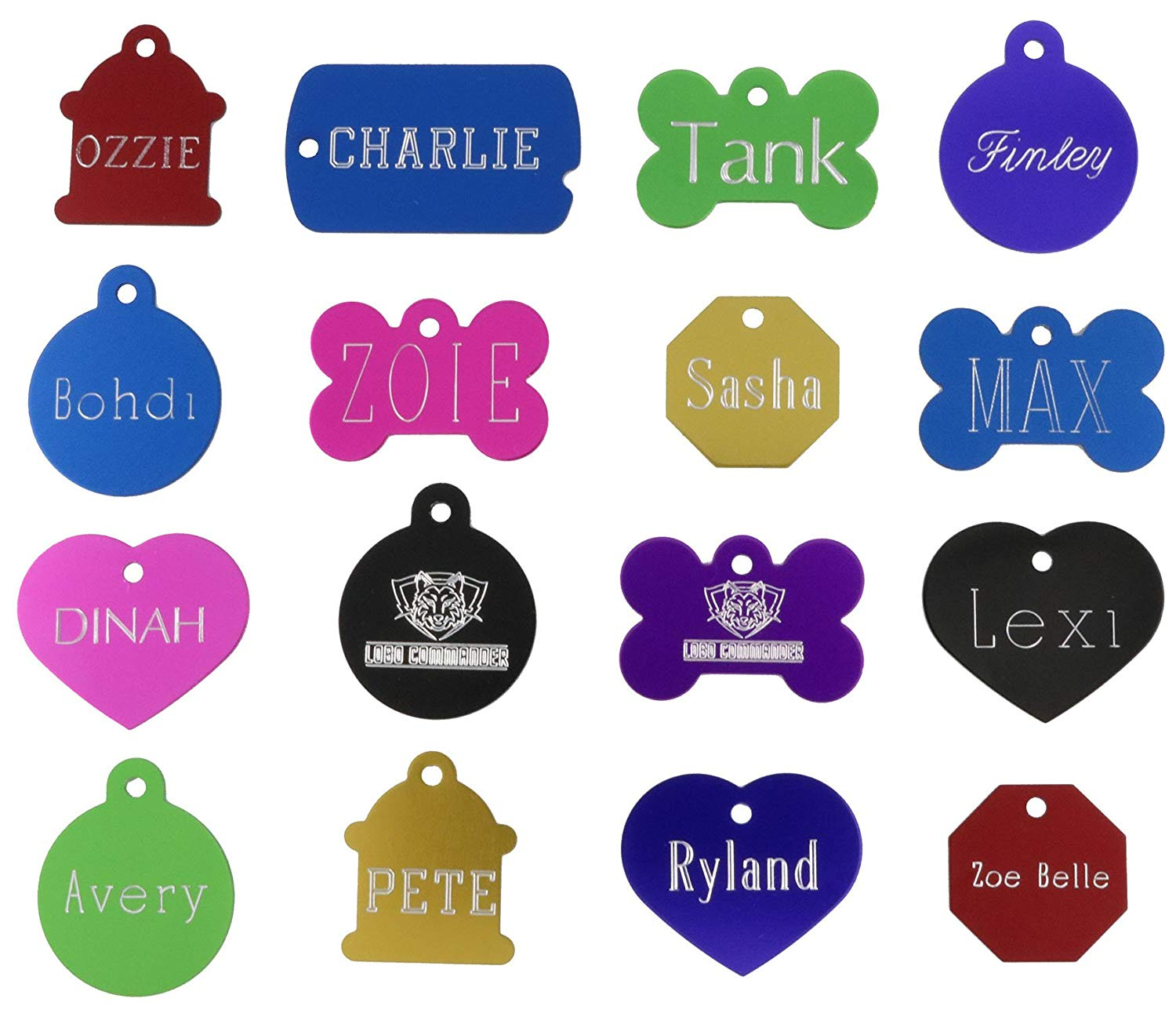 Custom Engraved Pet ID Tags For Your Dog Or Cat, Personalized Front And Back