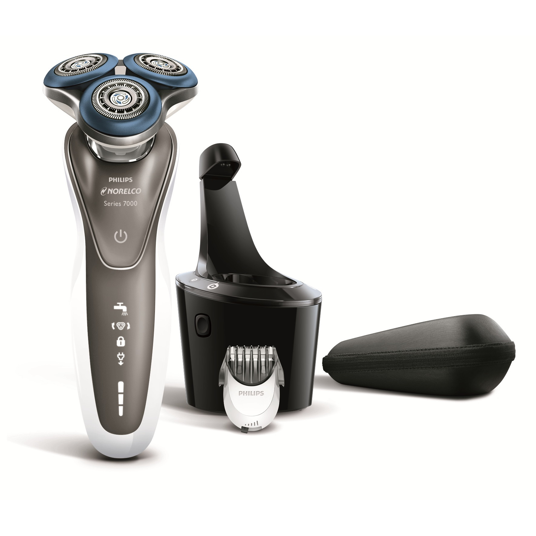 Philips Norelco Electric Shaver 7700 for Sensitive Skin with Beard Styler, S7720/85