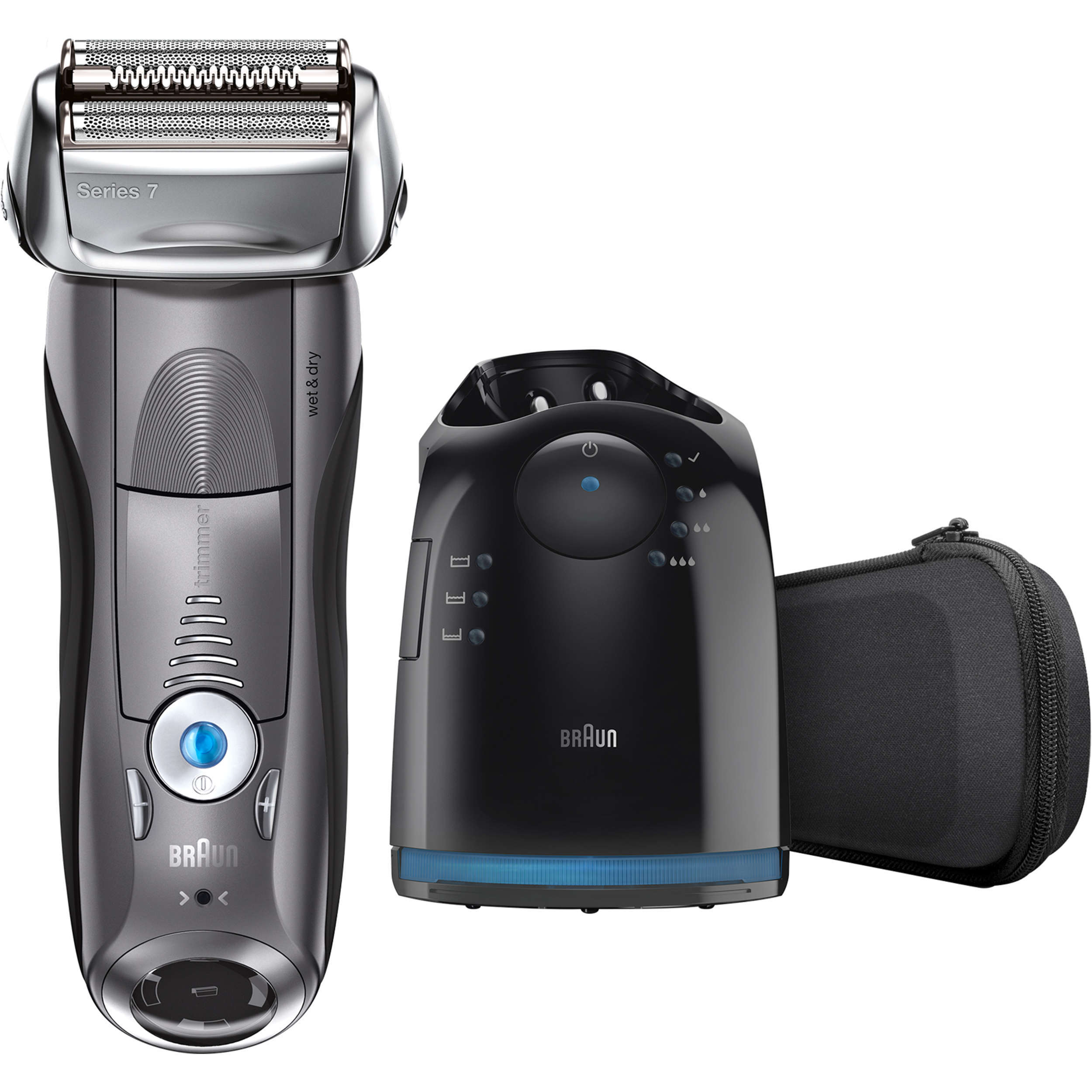 Braun Series 7 7865cc Men's Electric Foil Shaver ($25 Rebate Available), Wet and Dry Razor with Clean & Charge Station