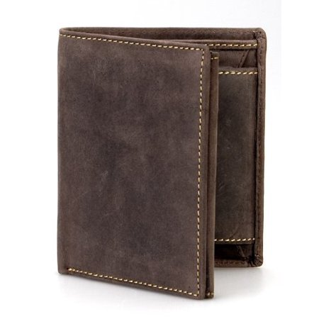Visconti Hunter 708 Mens Coin & ID Holder Quad Fold Wallet in Oiled Leather