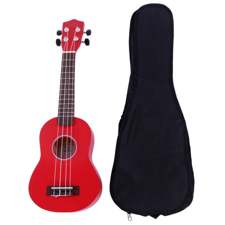 "Ktaxon Glarry UK101 21"" Basswood Ukulele Musical Hawaiian Guitar with Bag Multi-color"