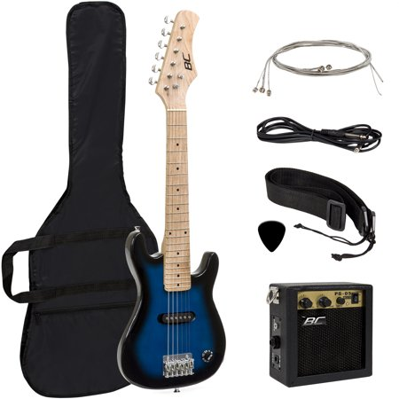 "BCP Electric Guitar Kids 30"" Blue Guitar W/ Amp, Case, Strap (Blue)"