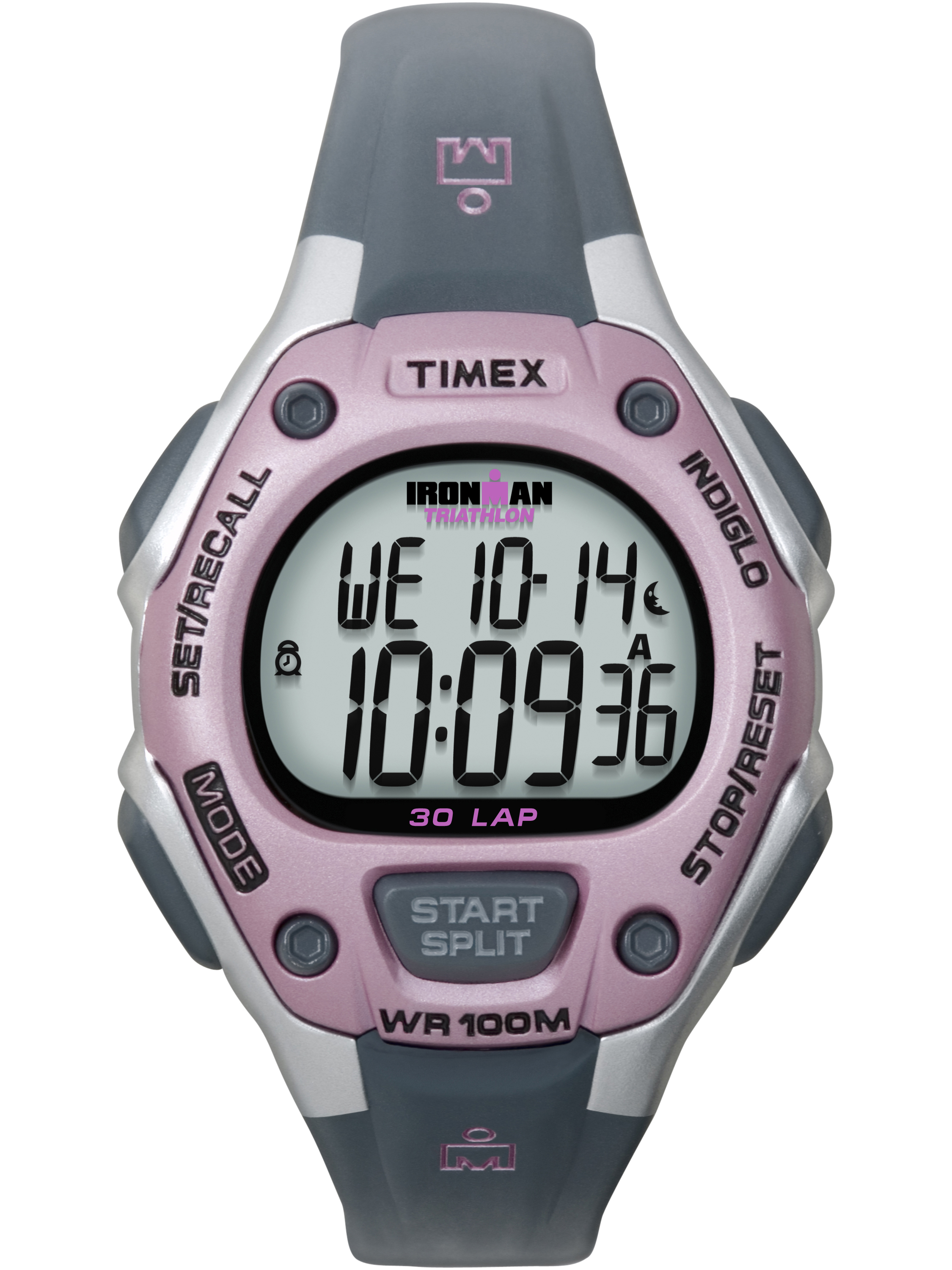 Timex Timex Women's Ironman Classic 30 Mid-Size Watch, Gray Resin Strap