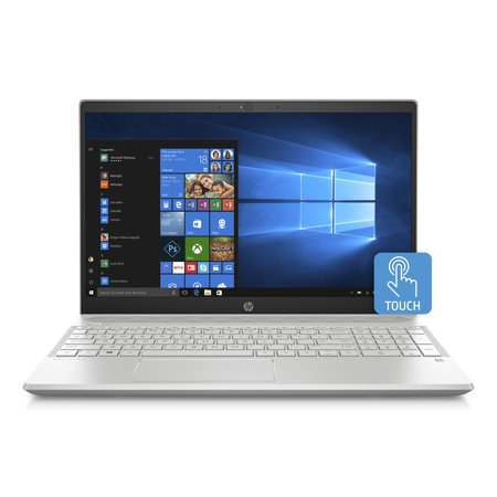 HP Pavilion 15-cs0051wm 15.6 Touchscreen Laptop, Windows 10 Home, Intel Core i5-8250U Processor, 8GB SDRAM Memory, 16GB Intel®Optane Memory, 1TB Hard Drive, Pale Gold