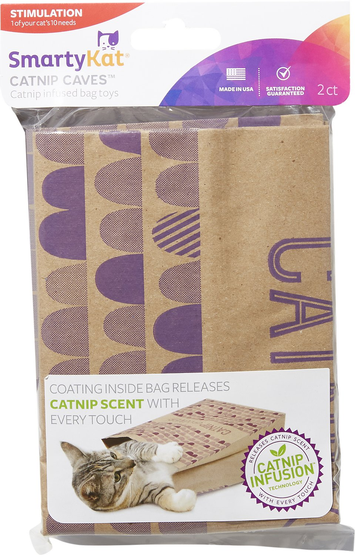 SmartyKat® Cat Caves™ Catnip Infused Paper Bags, Set of 2