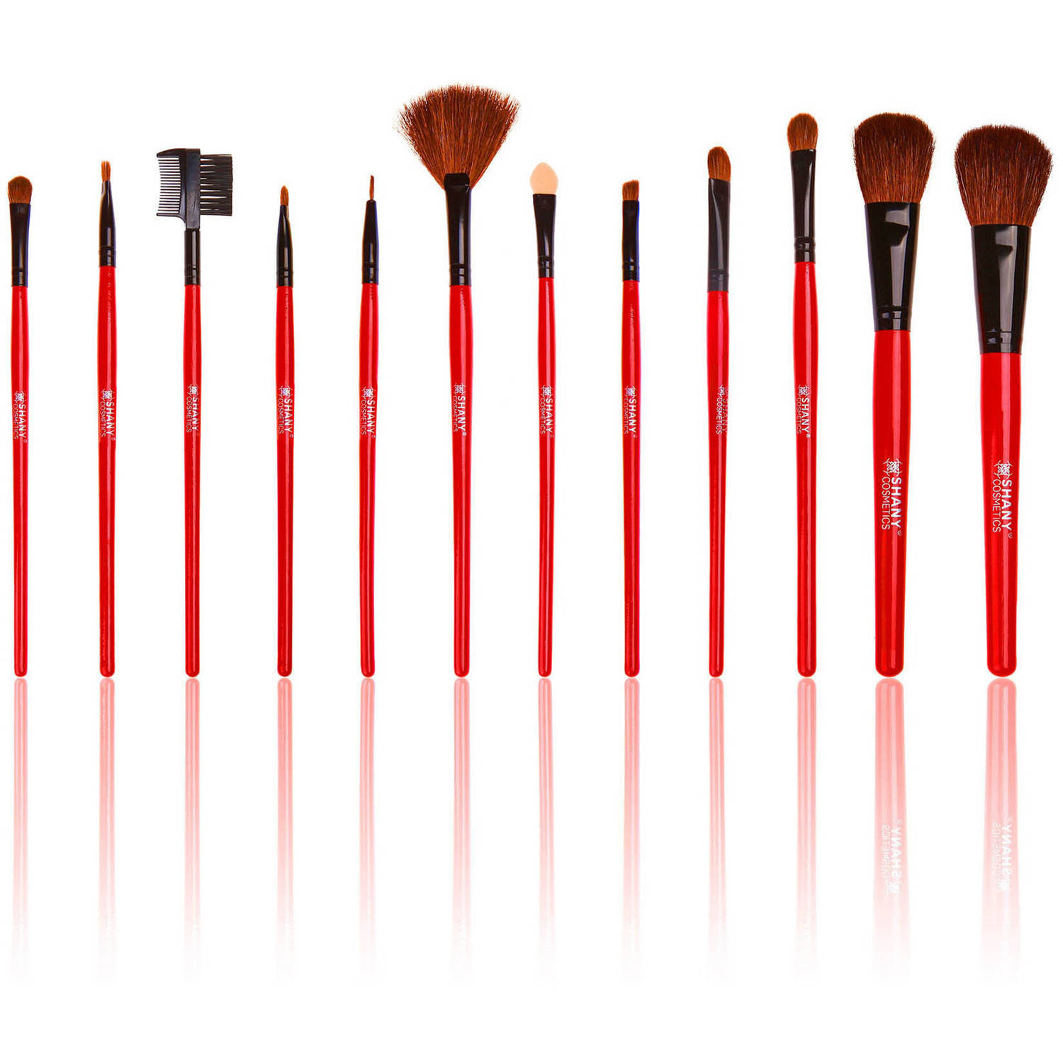 SHANY Professional Quality Cosmetic Makeup Brush Set with Pouch (13 Count)