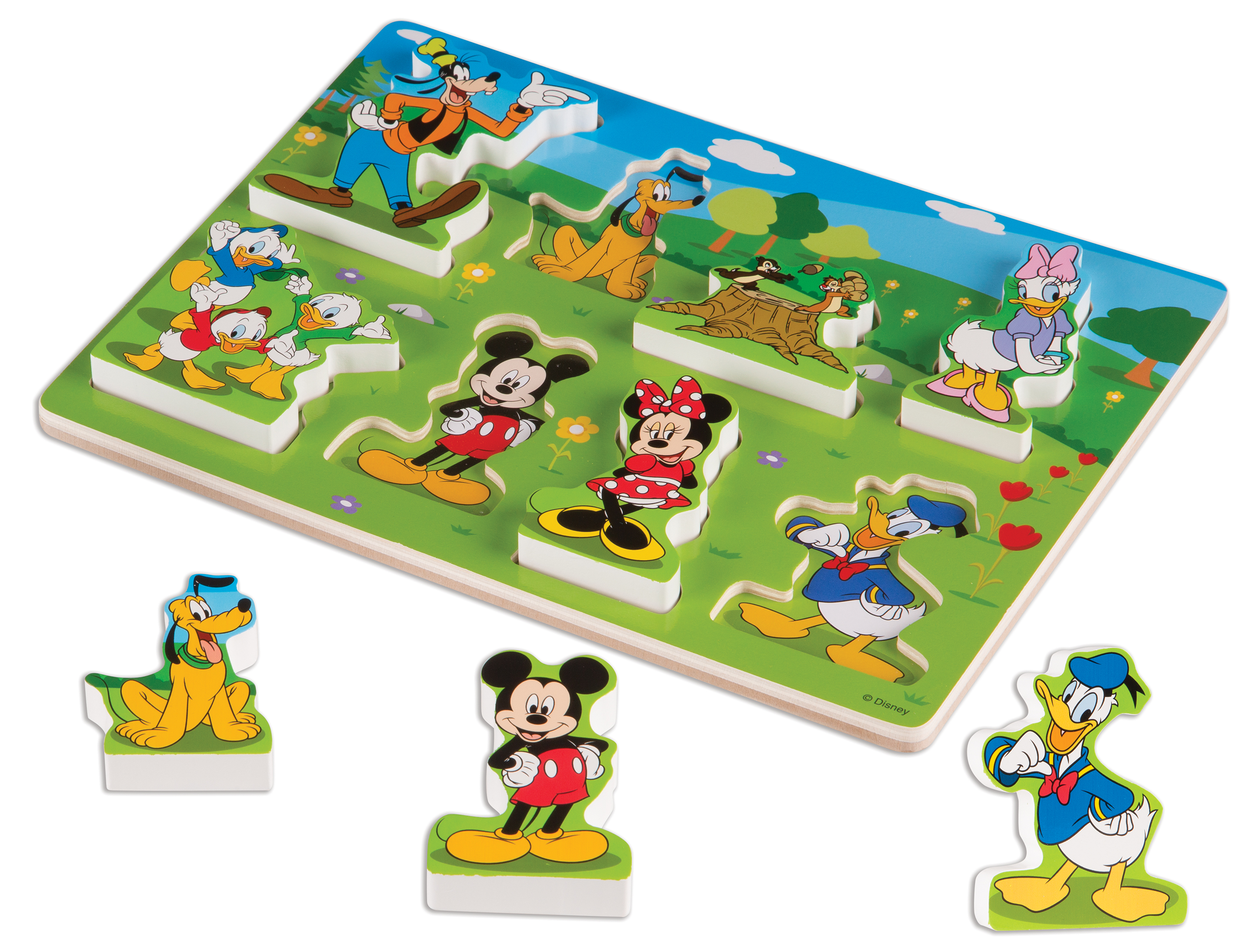 Disney Mickey Mouse Clubhouse Wooden Chunky Puzzle