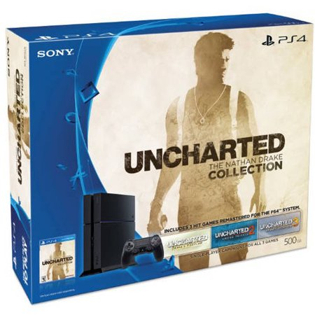 Refurbished Sony 3001362 PlayStation 4 500GB Console Black Uncharted Bundle