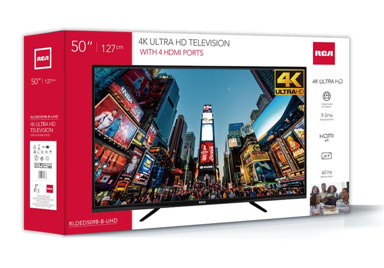 "RCA 50"" Class 4K (2160P) LED TV (RLDED5098-UHD)"
