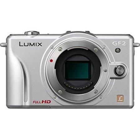 Panasonic Lumix DMC-GF2 Digital Micro Four Thirds Camera Body (Silver) (International Model No Warranty)