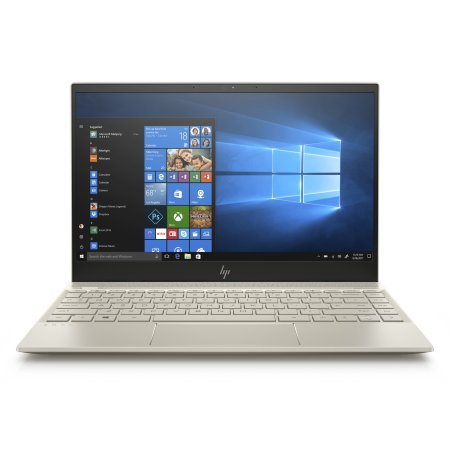 "HP Envy 13-ah0051wm 13.3"" Full-HD Ultra-Thin Laptop, Intel Core i5-8250U Processor, 8GB SDRAM Memory, 256 GB Solid State Drive, Fingerprint reader, Pale Gold"