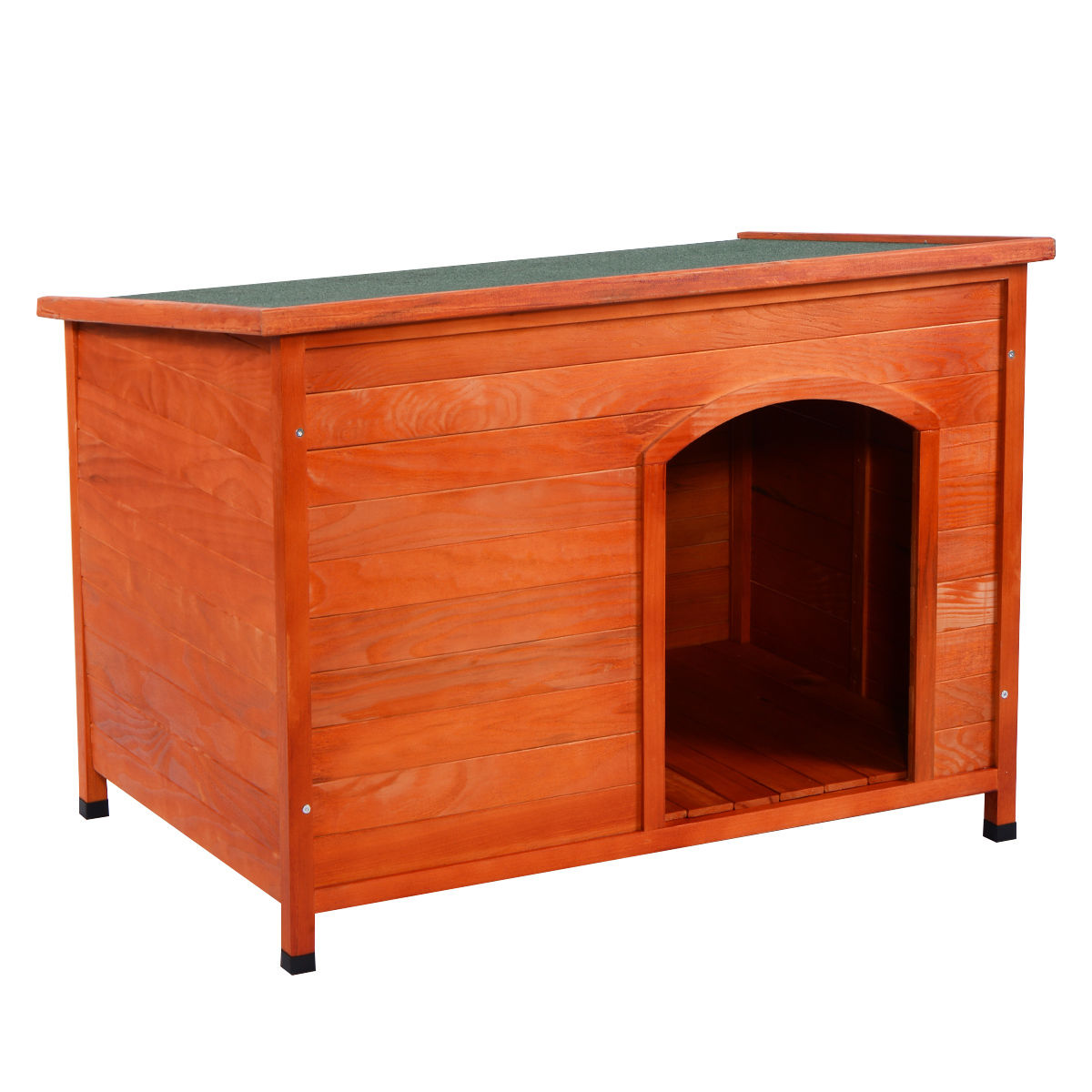 Costway Wood Dog House Pet Shelter Large Kennel Weather Resistant Home Outdoor 3 size