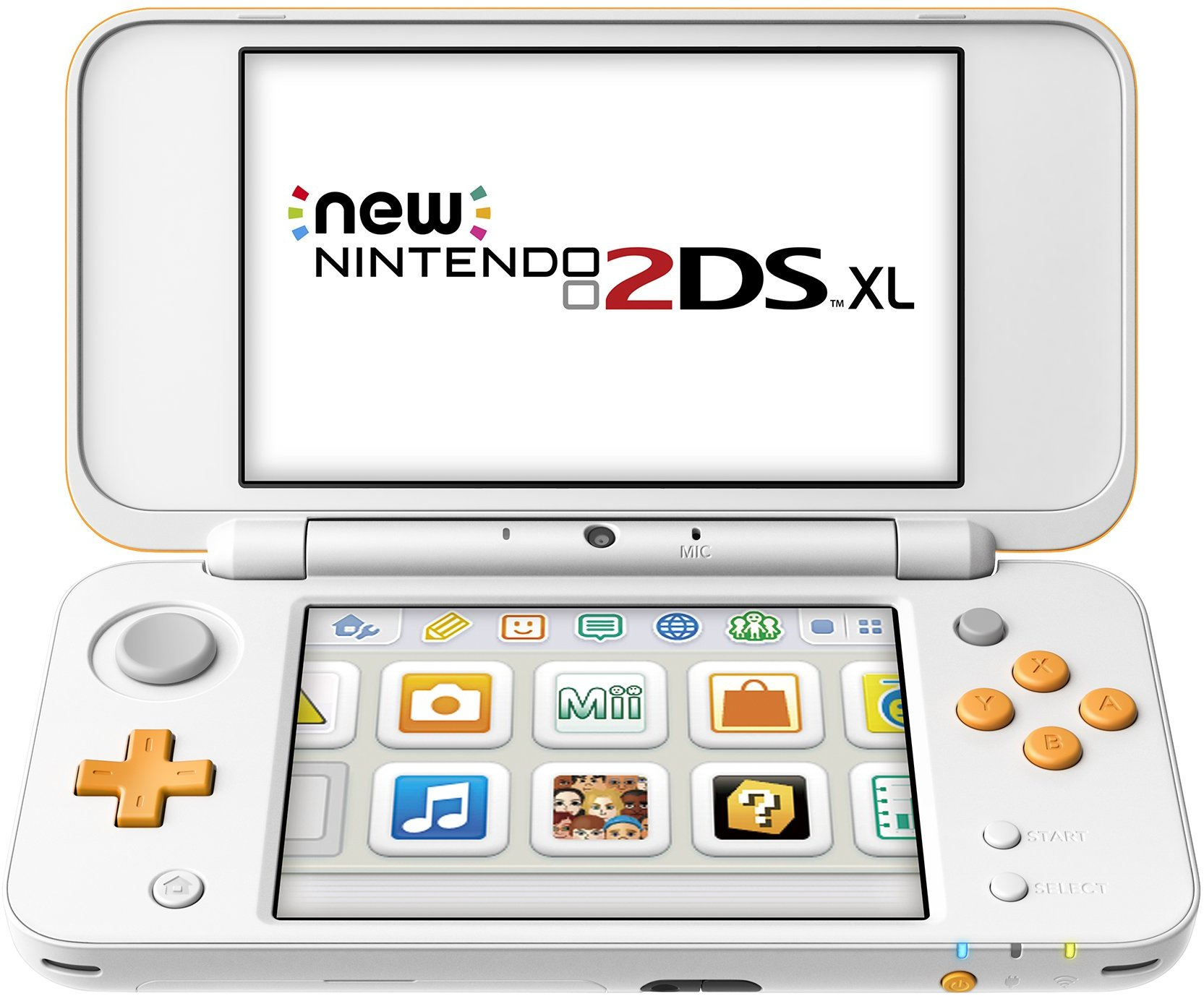 New Nintendo 2DS XL - White & Orange, JANSOAAB