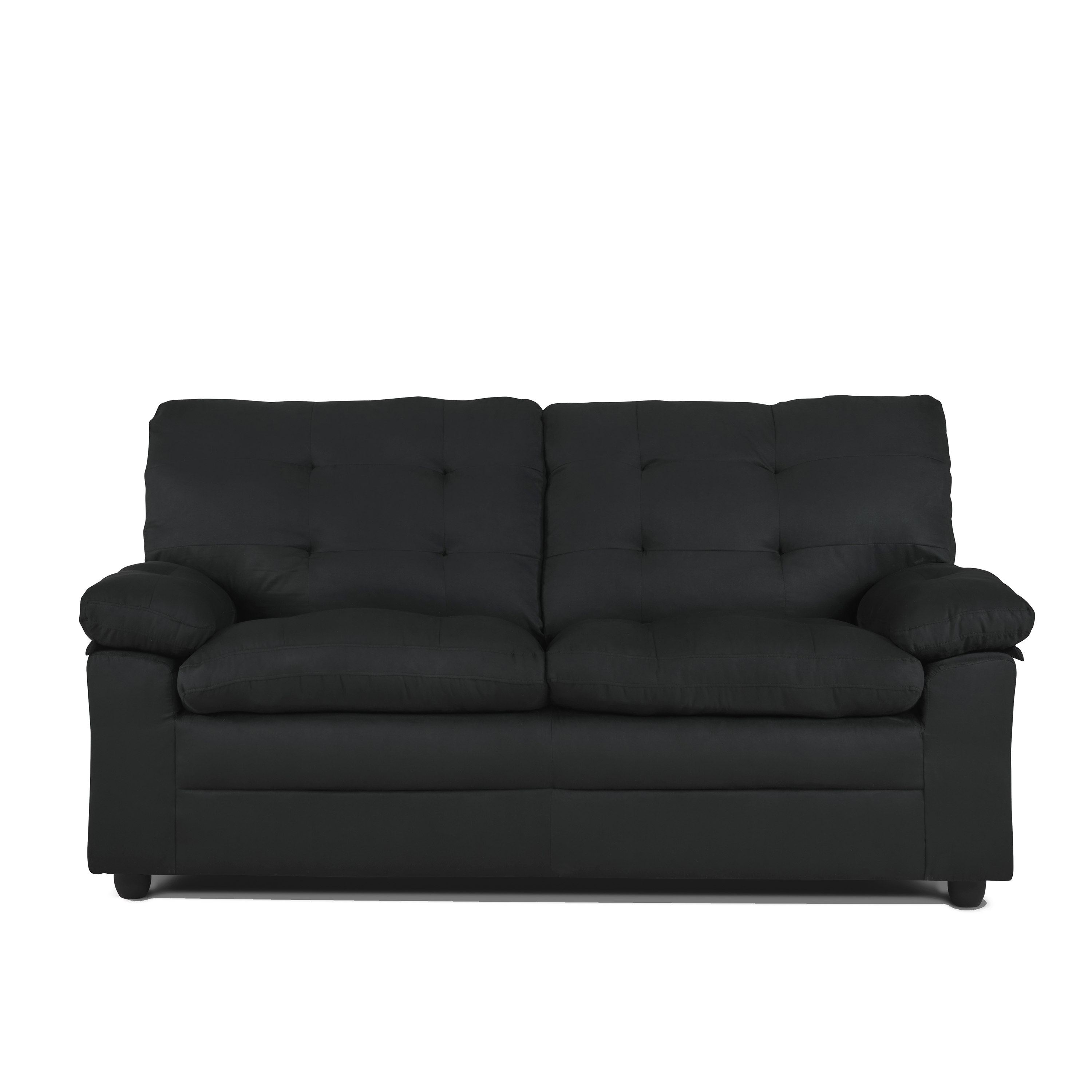 Mainstays Buchannan Upholstered Apartment Sofa, Black