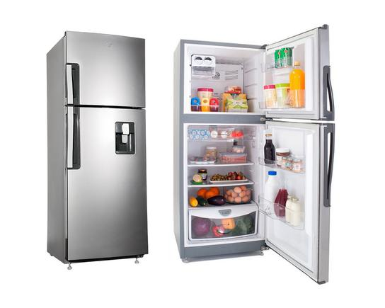 Refrigerator 11p3 top mount gray with dispenser