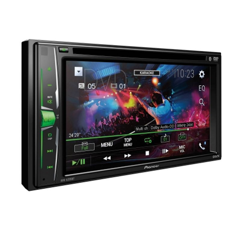 """Pioneer - Multimedia Receiver / DVD for AV 2-DIN with 6.2 """"WVGA Touch Screen, Integrated Bluetooth and Direct Control for iPod / iPhone"""