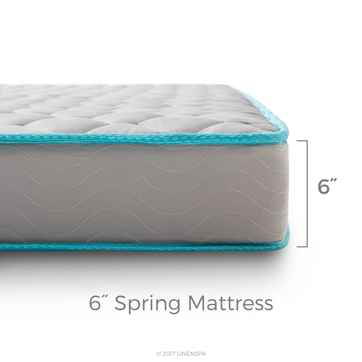 Linenspa 6-inch Innerspring Mattress-in-a-Box Cal King