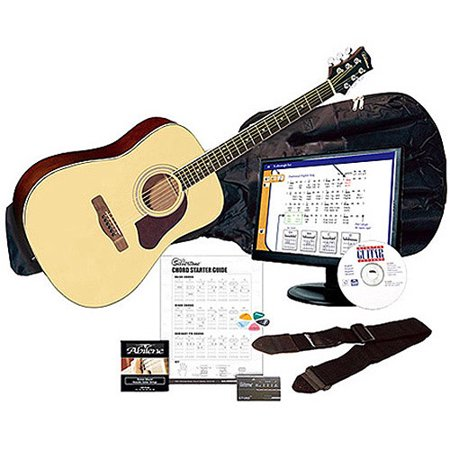Silvertone SD3000 Natural Complete Acoustic Guitar Package with Instructional Software, Tuner, Gig Bag and more Average rating:4.3672out of5stars, based on177reviews1