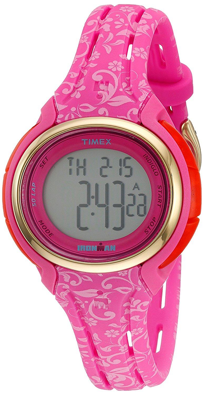 Timex Timex Ironman Digital Dial Pink Resin Ladies Watch TW5M03000JT