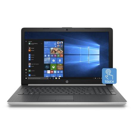 "HP 15-da0033wm 15.6"" Touch Laptop, Windows 10 Home, Intel Core i3-8130U processor, 4GB SDRAM Memory, 16GB IntelOptane Memory, 1TB Hard Drive, DVD, Natural Silver"