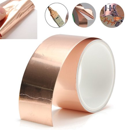 2*118inch EMI Copper Foil Shielding Tape Conductive Self Adhesive Barrier Guitar for Slug Repellent,Guitar & EMI Shielding,Stained Glass,Paper Circuits,Electrical Repairs