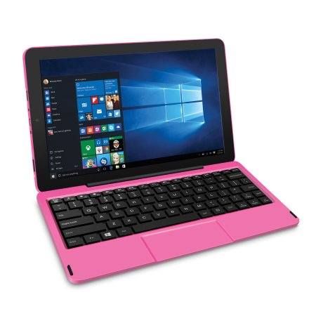 RCA Cambio Windows 10 Inch Pink 2-in-1 Notebook/Tablet