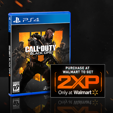 Call of Duty: Black Ops 4, Activision, Playstation 4 – Purchase the game to get 2XP