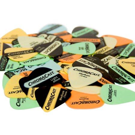 ChromaCast Vintage Delrin Guitar Pick 60 Pack, Assorted Colors and Gauges