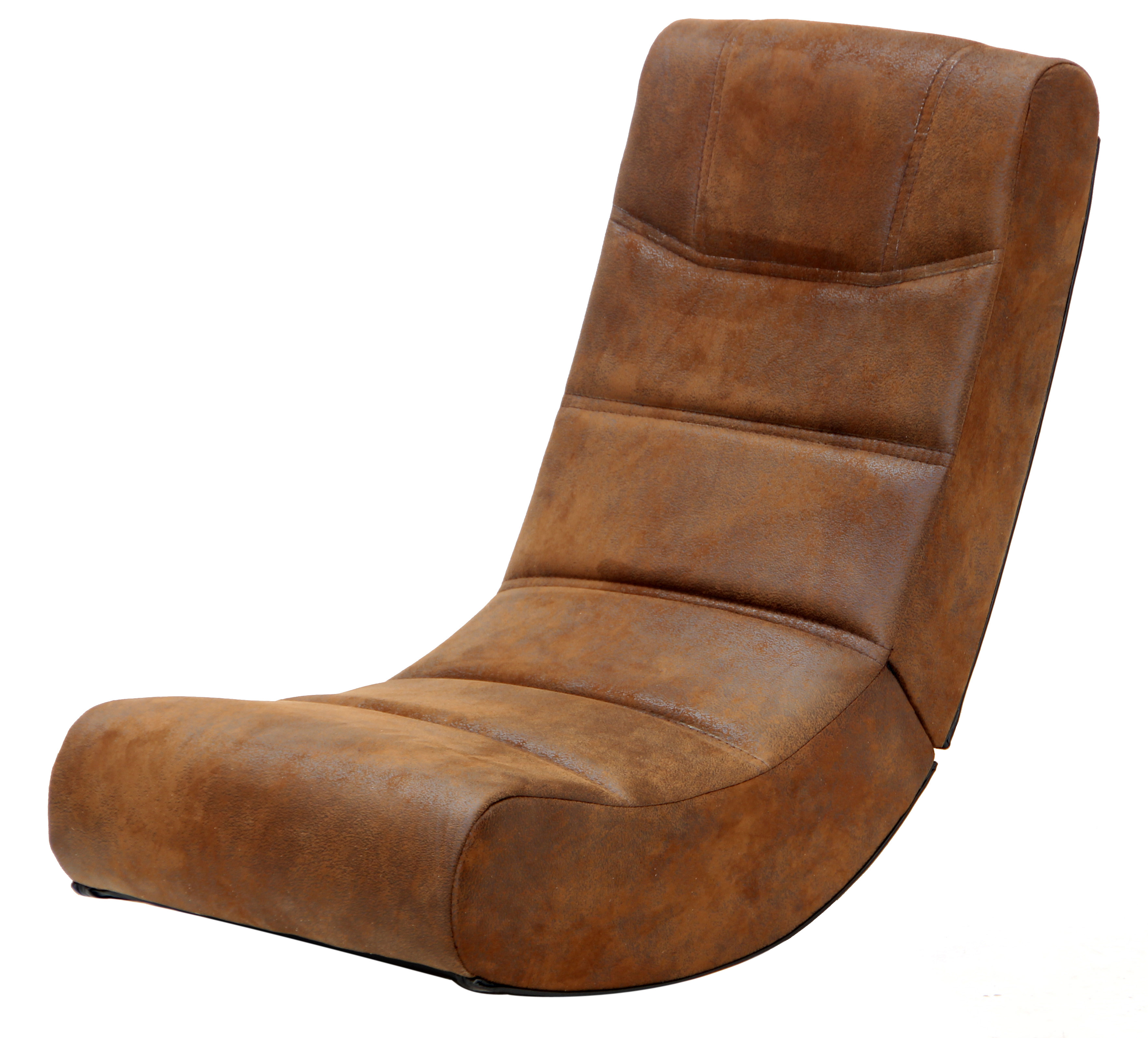 2.0 Audio X Rocker Gaming Chair in Distressed Brown Suede