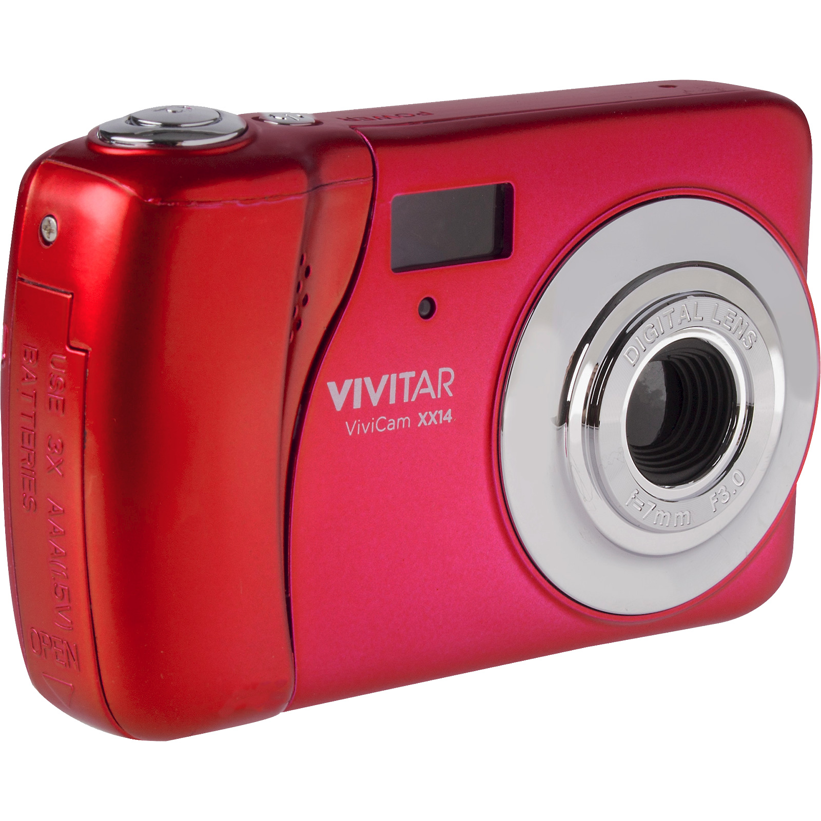 "Vivitar 20.1MP Selfie Camera with 1.8"" Preview Screen Red"
