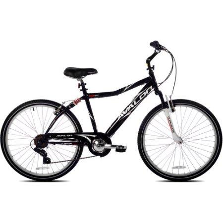"26"" NEXT Avalon Men's Comfort Bike with Full Suspension, Black"