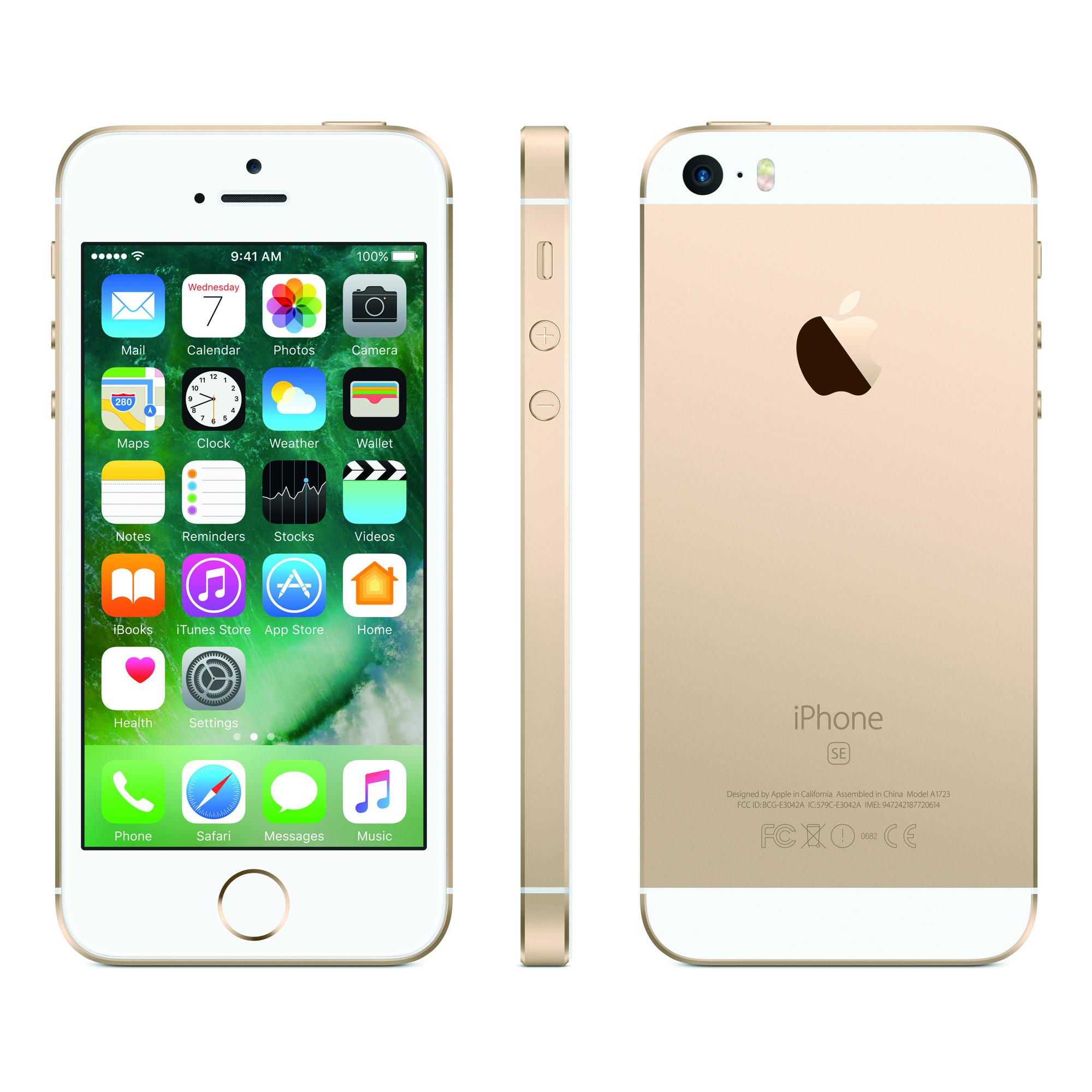 Refurbished Straight Talk Apple iPhone SE 32GB Prepaid Smartphone, Gold