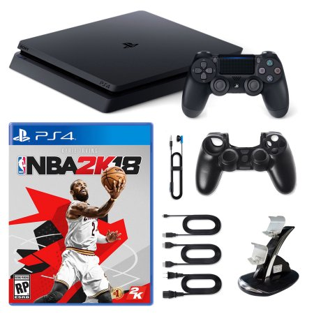 Playstation 4 1TB Core Console with NBA 2K18, Dual Cradle and Silicone Sleeve