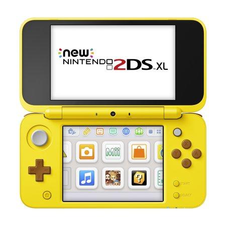 Nintendo 2DS XL Yellow Pikachu Edition with Bonus Pokemon Game & Portable Power Bank