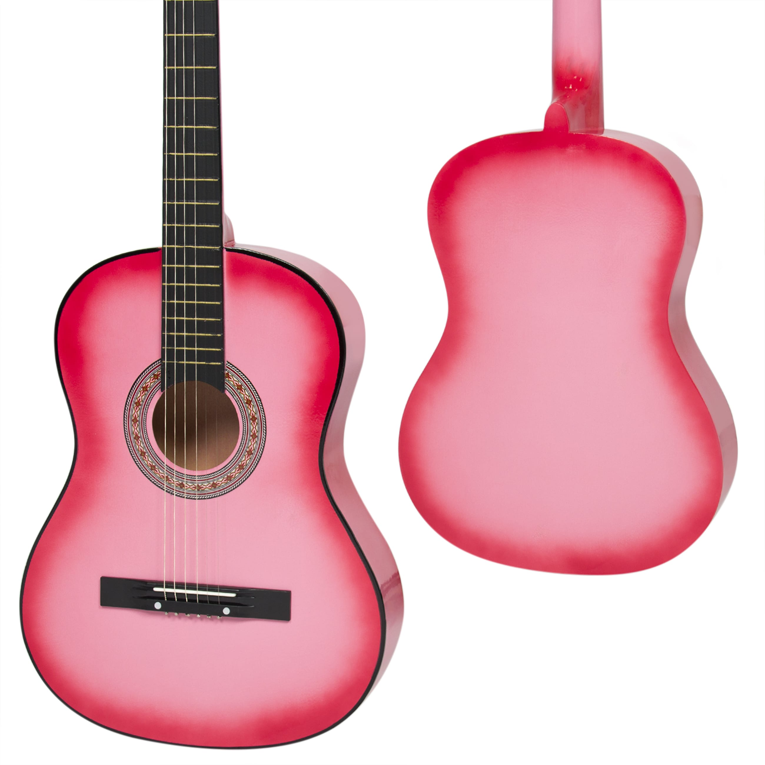 Best Choice Products Beginners 38'' Acoustic Guitar with Case, Strap, Digital E-Tuner, and Pick, (Pink)