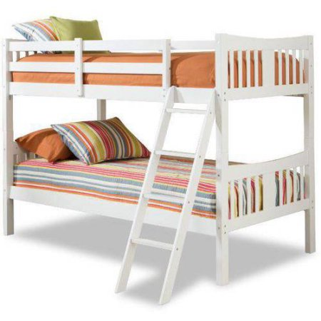 Storkcraft Caribou Solid Hardwood Twin Over Twin Wood Bunk Bed, White
