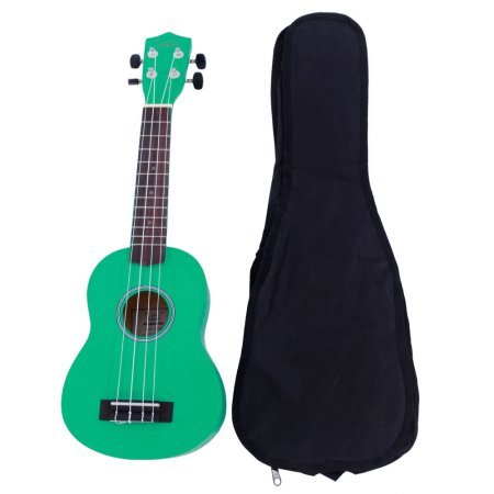 "Ktaxon Glarry UK101 21"" Basswood Ukulele Musical Hawaiian Guitar with Bag Multi-color"